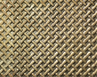 Nickel Silver Texture Metal Sheet Tight Weave Pattern 20g - 6 1/8 x 1 7/8 inches - Hammering Sheet Metalwork
