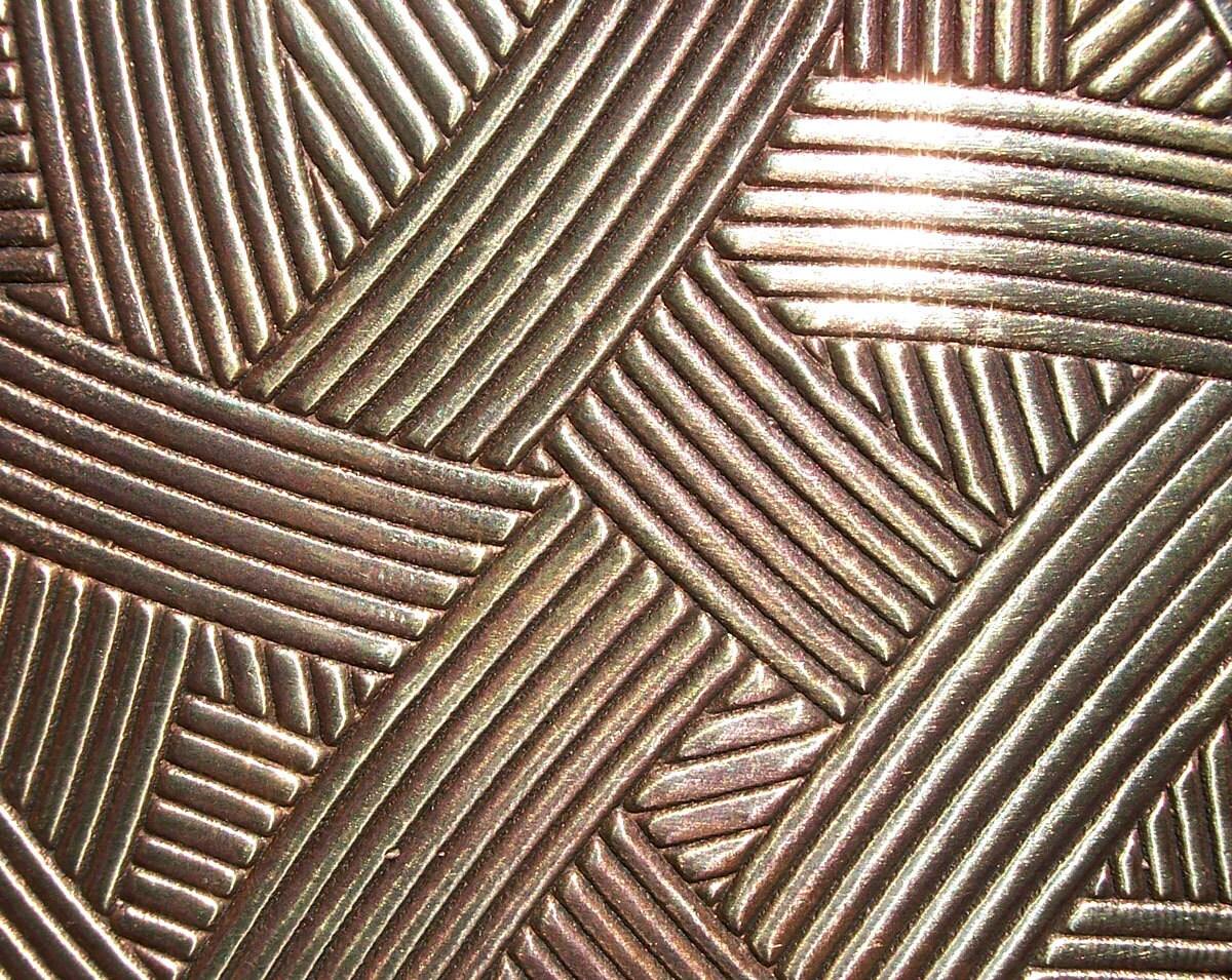 Sweeping Winds Texture Metal Sheet Pattern Bronze 22g 3 X 2