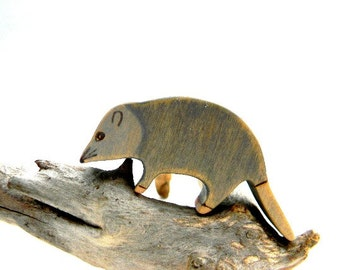possum waldorf toy, possum wooden toy, possum figurine, opossum, wooden waldorf toys