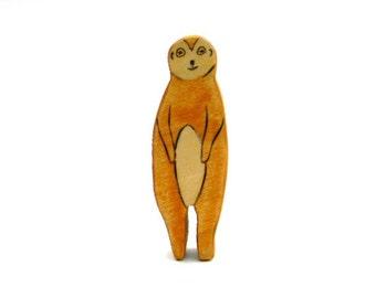 meerkat waldorf animal - wooden waldorf toys - eco friendly