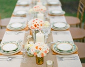 """Set of 6  Burlap Table Runners, 12"""" x 64"""" size, rustic, shabby chic, cottage, farmhouse chic"""