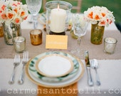"""Burlap Table Runners Set of 10, 12"""" x 72"""" size, rustic, shabby chic, cottage, farmhouse chic"""