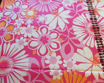 Just Reduced -Michael Miller Ruth Ann Border in Pink 1 yard
