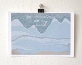 Blue Ridge Mountains - You Were Always On My Mind, Illustration Print