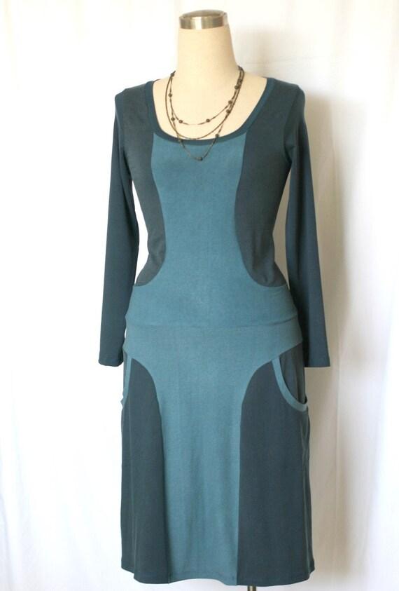Long Sleeve Dress Winter day dress with pockets Custom dress Pocket dress Made to measure womens dress Womens clothing Plus Size Clothing