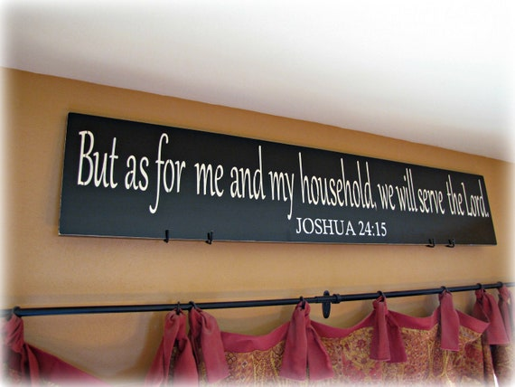 as for me and my household joshua christian wall decor