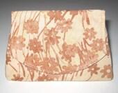 Peachy Flowers on Light Peach Batik Wallet