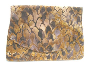 Snakeskin Patterned Batik Wallet