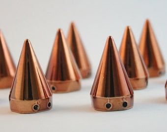 10 pcs Acrylic Brown Cone 1 Spike Bead Charms Pendants Decorations Findings. 1SP1