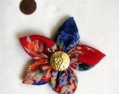 Flower Pin Brooch Accessory for Hats, Clothing, and Headbands