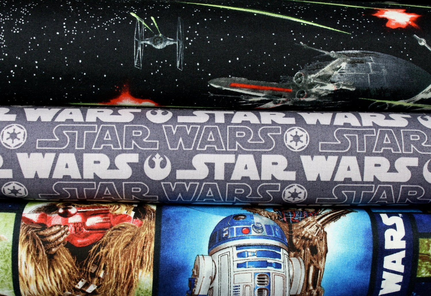 Star wars cotton fabric collection 1 yard by cottonblossomfarm for Star wars fabric