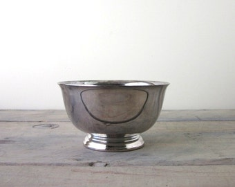 Silver Plate Footed Serving Bowl