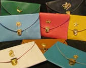 SALE Colorful Nautical Clutches - Choose your color and nautical embellishment