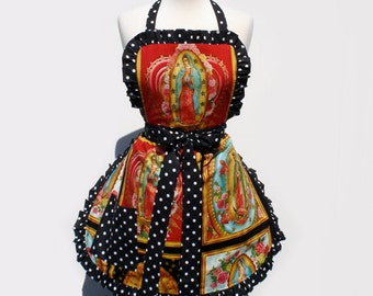 Guadalupe Mexican Virgin Mary Apron
