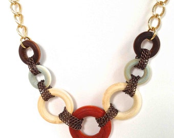 Wood Circle Necklace 203
