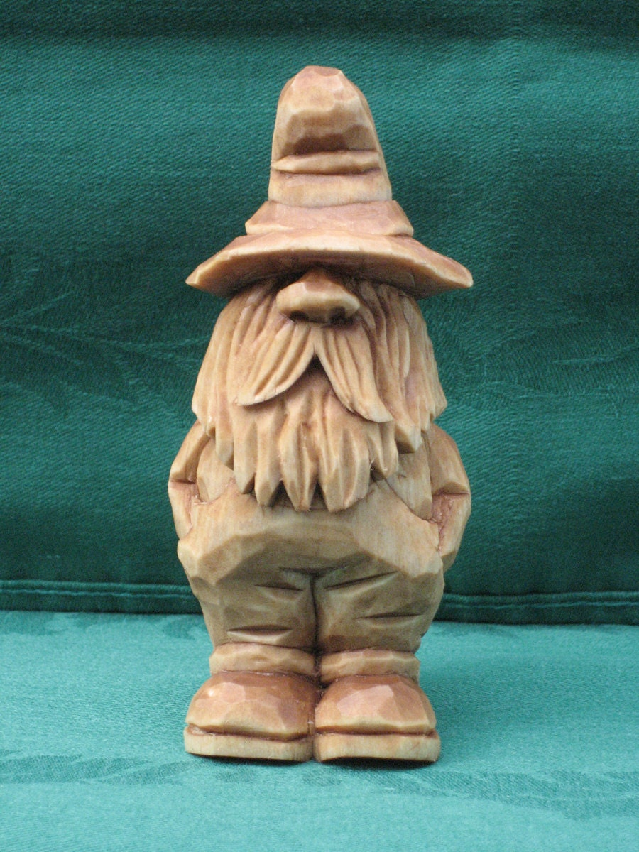 Hand Carved Rufus The Moonshiner Wood Carving Handmade