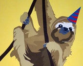 Birthday Sloth Card