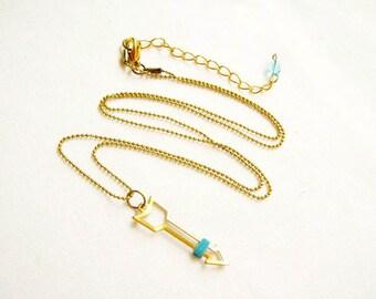 Gold Arrow Necklace,Open Arrow Pendant Necklace, Boho Jewelry, LAST ONE