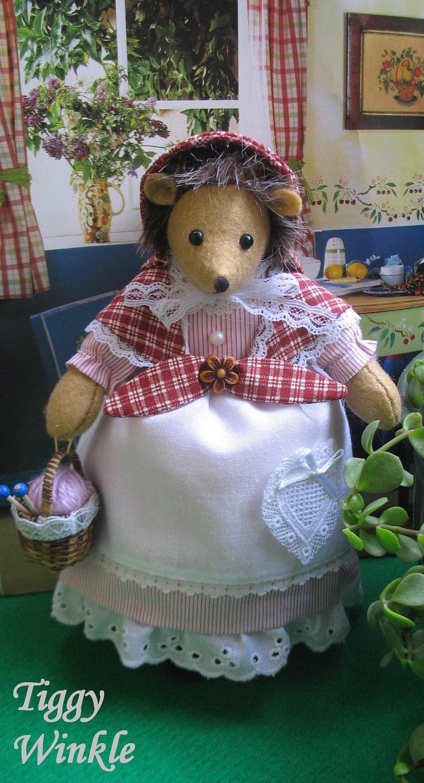 Vintage beatrix potter eden toys hedgehog
