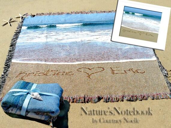 Beach Wedding Bridesmaid Gifts: Items Similar To Unique Wedding Gift Custom Beach Blanket