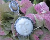 The Moon and Oregon Beach Agate Necklace
