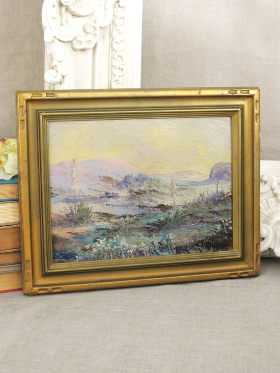 Antique Schleussner Desert Impressionism Painting - Vintage Art Gallery