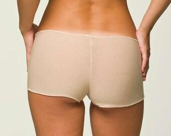 Tan Panties Lingerie- Boyshort Underwear-RTS