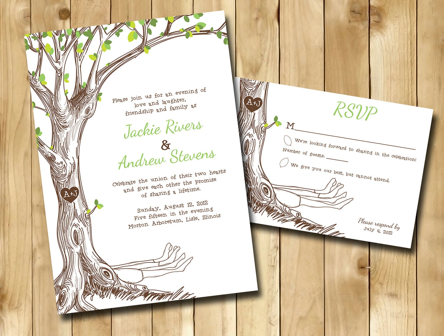 Tree Wedding Invitation: The Giving Tree Wedding Invitations Sample By