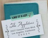 Custom Rubber Address Stamp - Wedding Stamp - Calligraphy Stamp - Self Inking - Claro