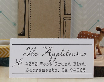 Personalized Rubber Address Stamp - Eco Mount  - Composite