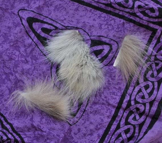 Grab Bag - 3 Real Wolf Fur Scraps
