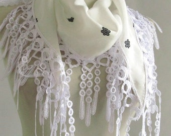 white scarf - scarf accessories - chiffon scarf - white scarf - scarf sale - scarf shop - woman scarves