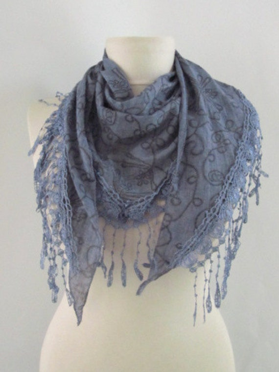 Tringle scarf Cotton scarves Fabric Scarf-lace edge scarf asuhan free shipping