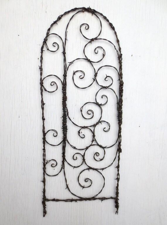 Spirals Galore Barbed Wire Spirilian Trellis
