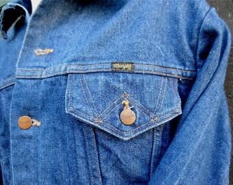 Vintage 1960's Wrangler Denim Cowboy Jacket in GREAT Condition - Size 46