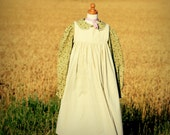 Pioneer Dress with Pinafore and Bonnet Sizes 2-12