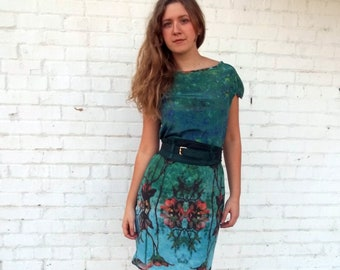 Ophelia Reflects Silk Dress