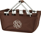 Personalized Collapsible Large Market Basket (BROWN)
