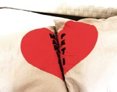 Heart pillow with your name on it