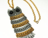 Vintage Unsigned Park Lane Articulated Owl Necklace
