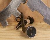 "STEAMPUNK- Vintage 1940's typewriter ""Question Mark and Slash"" key necklace"