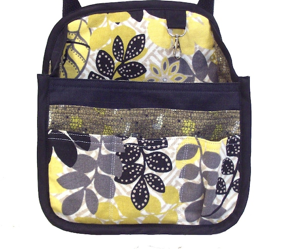 Hanging Car Organizer in yellow, black and gray