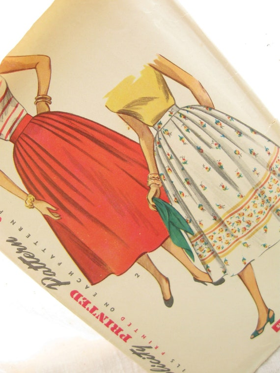 50's Full Skirt Vintage Sewing Pattern: Simplicity 4648