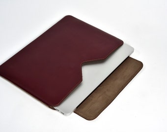 """Leather Sleeve for MacBook Air 13"""" (Side Closing)"""