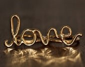 BIG Love Ring - Gold Plated