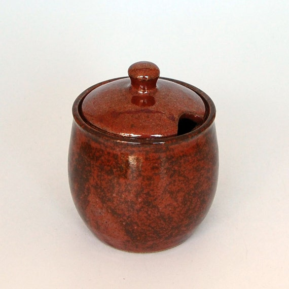Ceramic Sugar Bowl - Honey Jar - Jam Jar