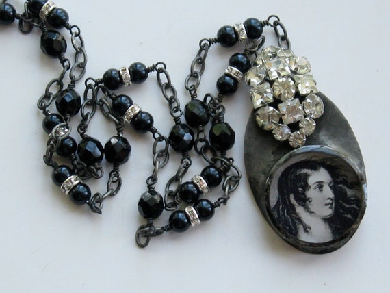 Reserved for Teresa  Please Do Not Buy Unless You Are Teresa Joan of Arc Necklace Vintage Rhinestone Necklace