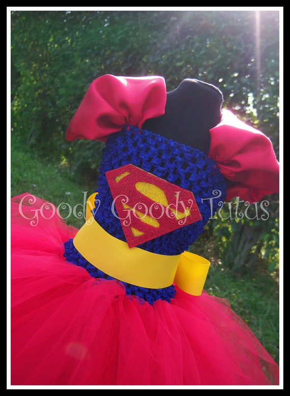 LOIS and CLARK Superman Inspired Tutu Dress - Large 4-6t