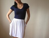 White Mini Skirt - Free US Shipping - Donation to Unicef - Item MM-SK1T2W