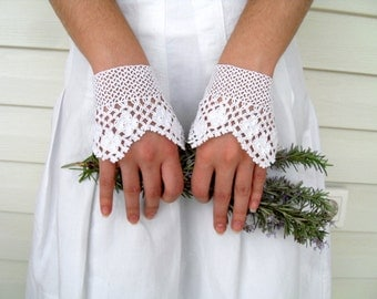 Wedding Gloves, Bridal Gloves,Victorian Gloves,Gothic,Lace Gloves, Romantic Crocheted Gloves